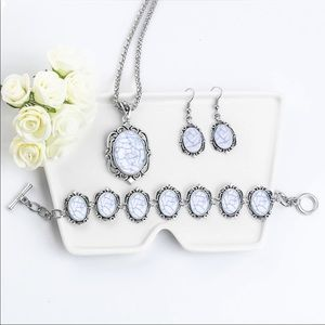 💎💙Vintage Romantic White Beaded Jewelry Set💙💎